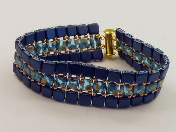 flaches Armband dunkelblau