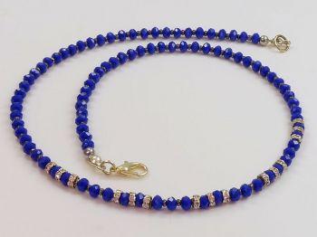 Zarte Halskette in kobaltblau