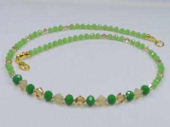 Collier in grün-gold