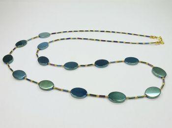 Variable Halskette in grün