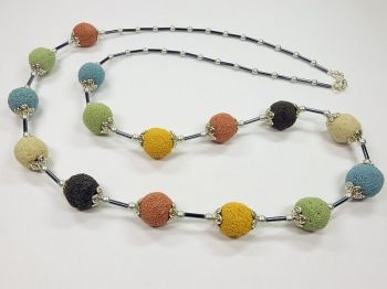 Variable Halskette mit bunter Lava