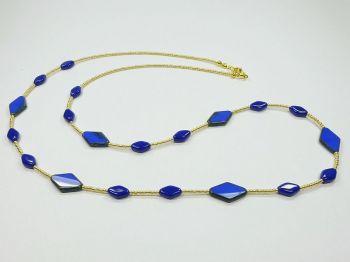Zarte variable Halskette in blau