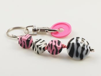 Schlüsselanhänger mit Zebra-Klunkern